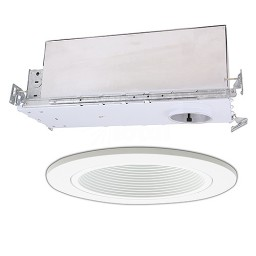 "2"" Recessed new construction white trim kit"