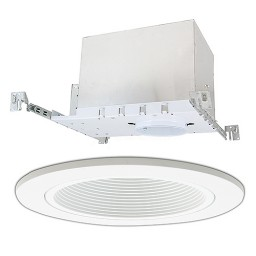 "4"" Low voltage recessed new construction white trim kit"