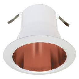 """4"""" Recessed lighting air tight copper specular reflector white trim"""