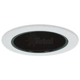 "4"" Recessed lighting air tight black specular reflector white trim"