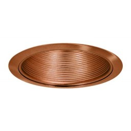 """6"""" Recessed lighting air tight copper stepped baffle trim"""