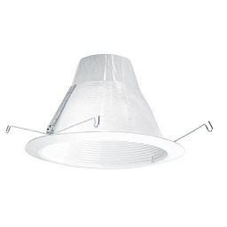 "6"" Recessed lighting air tight white baffle White trim"