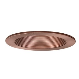 "2"" Recessed lighting bronze stepped baffle trim"