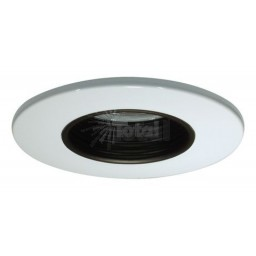 "2"" Recessed lighting black stepped baffle white trim"