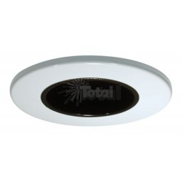 "2"" Recessed lighting black reflector white trim"