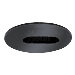 "2"" Recessed lighting black adjustable slot trim"