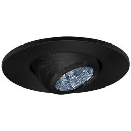 """2"""" Recessed lighting adjustable MR11 black eyeball trim"""