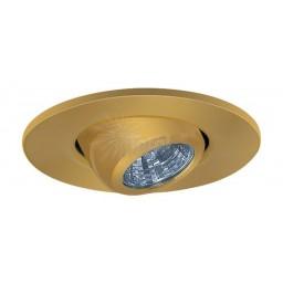 "2"" Recessed lighting adjustable MR11 polished brass eyeball trim"