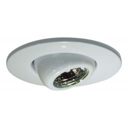 "2"" Recessed lighting adjustable MR11 white eyeball trim"