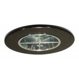 "2"" Recessed lighting chrome reflector crossblade black trim"