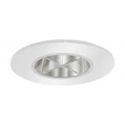 "2"" Recessed lighting chrome reflector crossblade white trim"