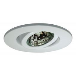 """2"""" Recessed lighting adjustable 35 degree tilt white gimbal ring trim"""