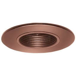 "2"" Recessed lighting bronze stepped baffle bronze shower trim"