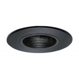 "2"" Recessed lighting black stepped baffle shower trim"