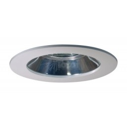 "2"" Recessed lighting chrome reflector white shower trim"