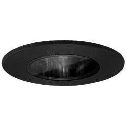 "2"" Recessed lighting black reflector black shower trim"