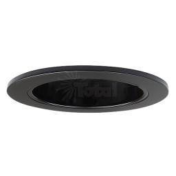 "3"" Low voltage recessed lighting black reflector black trim adjustable"