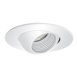 "3"" Low voltage recessed lighting white baffle white eyeball trim"
