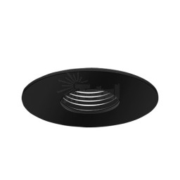 "3"" Low voltage recessed lighting black baffle black pinhole trim"