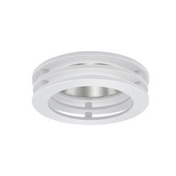 "3"" Low voltage recessed lighting clear chrome reflector white concentric tri-level ring trim adjustable"