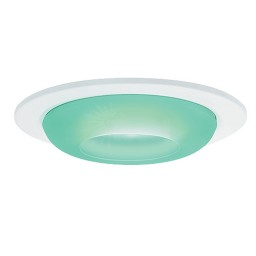 "3"" Low voltage recessed lighting green glass white metropolitan moon lite trim"