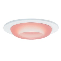 "3"" Low voltage recessed lighting peach glass white metropolitan moon lite trim"