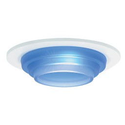 "3"" Low voltage recessed lighting blue glass white metropolitan step lite trim"