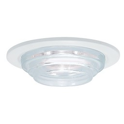 "3"" Low voltage recessed lighting crystal glass white metropolitan step lite trim"