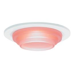 "3"" Low voltage recessed lighting peach glass white metropolitan step lite trim"