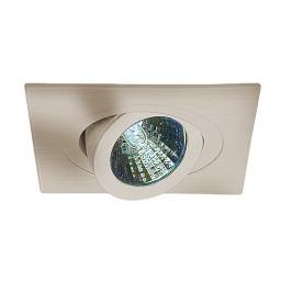 "3"" Low voltage recessed lighting 35° tilt 359° rotation fully adjustable satin square eyeball trim"