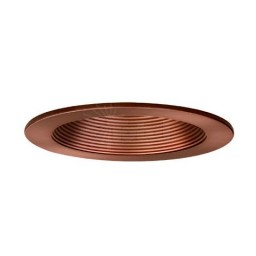"4"" Low voltage recessed bronze baffle trim"