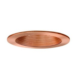 "4"" Low voltage recessed lighting copper baffle trim"