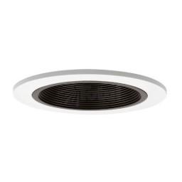"4"" Low voltage recessed lighting black baffle trim"