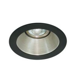 "4"" Low voltage recessed lighting satin baffle black trim"