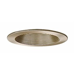 "4"" Low voltage recessed lighting 50 degree adjustable satin baffle trim"