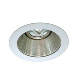 "4"" Low voltage recessed lighting satin baffle white trim"