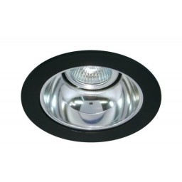 "4"" Low voltage recessed lighting chrome reflector black trim"