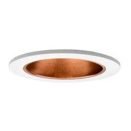 "4"" Low voltage recessed lighting copper reflector white trim"