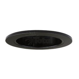 "4"" Low voltage recessed lighting clear lens black shower trim"