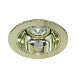 "4"" Low voltage recessed lighting gold reflector polished brass trim"