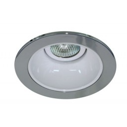 "4"" Low voltage recessed lighting white reflector chrome trim"