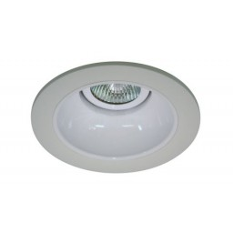 "4"" Low voltage recessed lighting white reflector white trim"