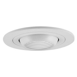 "4"" Low voltage recessed lighting white eyeball white baffle trim"