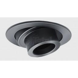 "4"" Low voltage recessed lighting adjustable black spot trim"