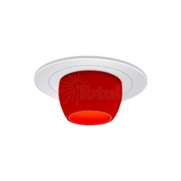 "4"" Low voltage recessed lighting red glass metropolitan honey lite white trim"