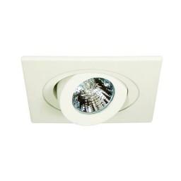 "4"" Low voltage recessed lighting 35 degree tilt fully adjustable white square eyeball trim"