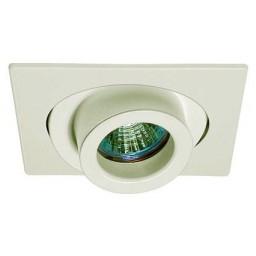 "4"" Low voltage recessed lighting 40 degree tilt adjustable spot white square trim"