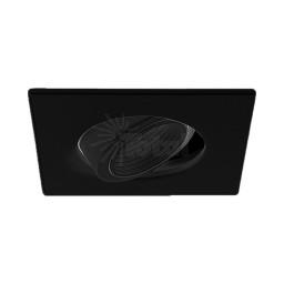 "4"" Low voltage recessed lighting 35 degree tilt adjustable black square black baffle pinhole trim"