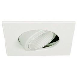 "4"" Low voltage recessed lighting 35 degree tilt adjustable white square baffle pinhole trim"