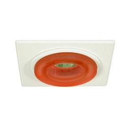 "4"" Low voltage recessed lighting peach glass metropolitan ice white square trim"